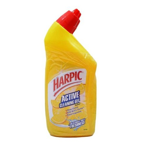 Harpic Active Cleaning Gel Lemon 500ml Twin Pack 2s